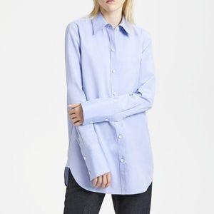 NWT $275 Theory Classic Tuxedo Button Front Shirt